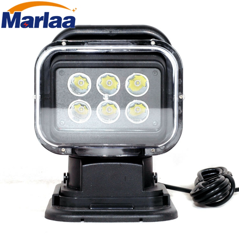 Marlaa IP67 10-30V Remote control LED Searchlight 7inch 30W Spotlight LED Work Light TRUCK SUV BOAT MARINE driving light