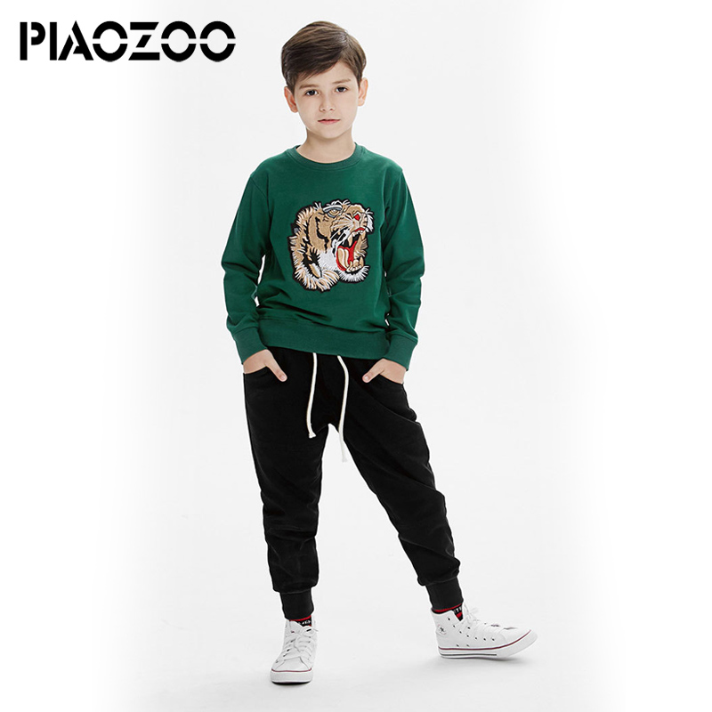 все цены на Baby boys sweatshirt cartoons 2018 Toddler Kids Teenage Boys Hooded Letter Blouse Hoodies Tops Blouses for Teen Clothes 4-14TP20 онлайн
