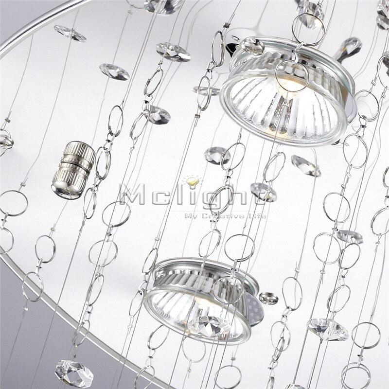 New Modern Crystal Chandelier Light Fixture Crystal Pendant Ceiling ...
