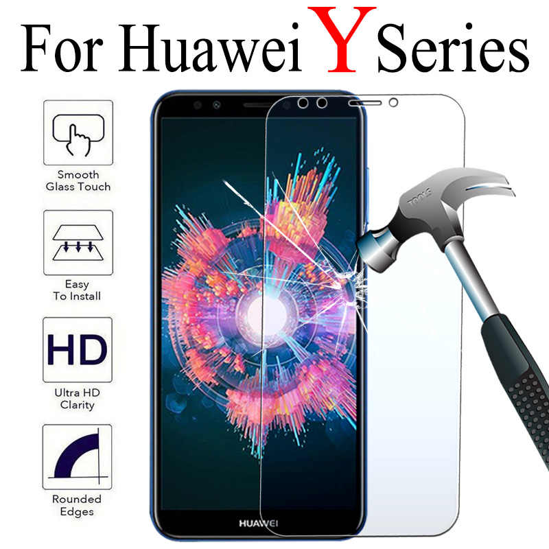 HD Clear Tempered Glass For Huawei Y9 2018 Screen Protector Film For Huawei Y7 Y6 Prime Y9 2019 Y5 Y6 2018 Protective Film Glass