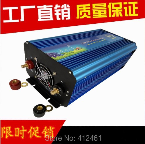 Digital Display 4000W off grid 12V 220V  high frequency pure sine wave solar power inverter DC to AC converter power supply цена и фото