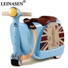 Children Travel locker handbag boy girl baby creative Toy box luggage suitcase Pull rod Can sit to ride Check child gift