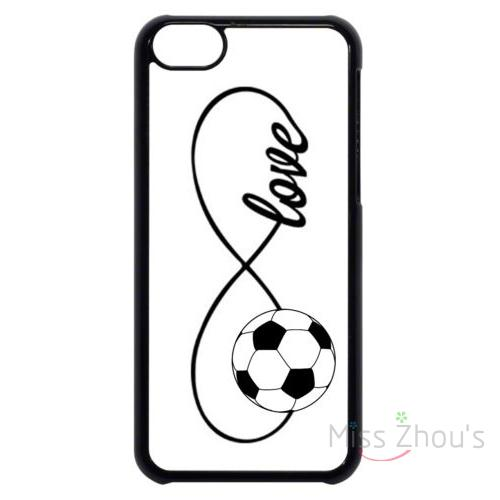 For iphone 4/4s 5/5s 5c SE 6/6s plus ipod touch 4/5/6 back skins mobile cellphone cases cover Soccer Infinity Forever Love