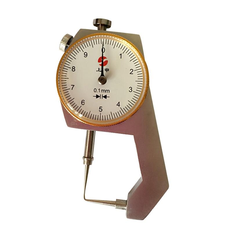 Dental Lab Presisi produk 0-10 * 0,1mm Caliper Dengan Arloji Mengukur Ketebalan dari Arloji Logam Menampilkan Alat Ukur Ketebalan