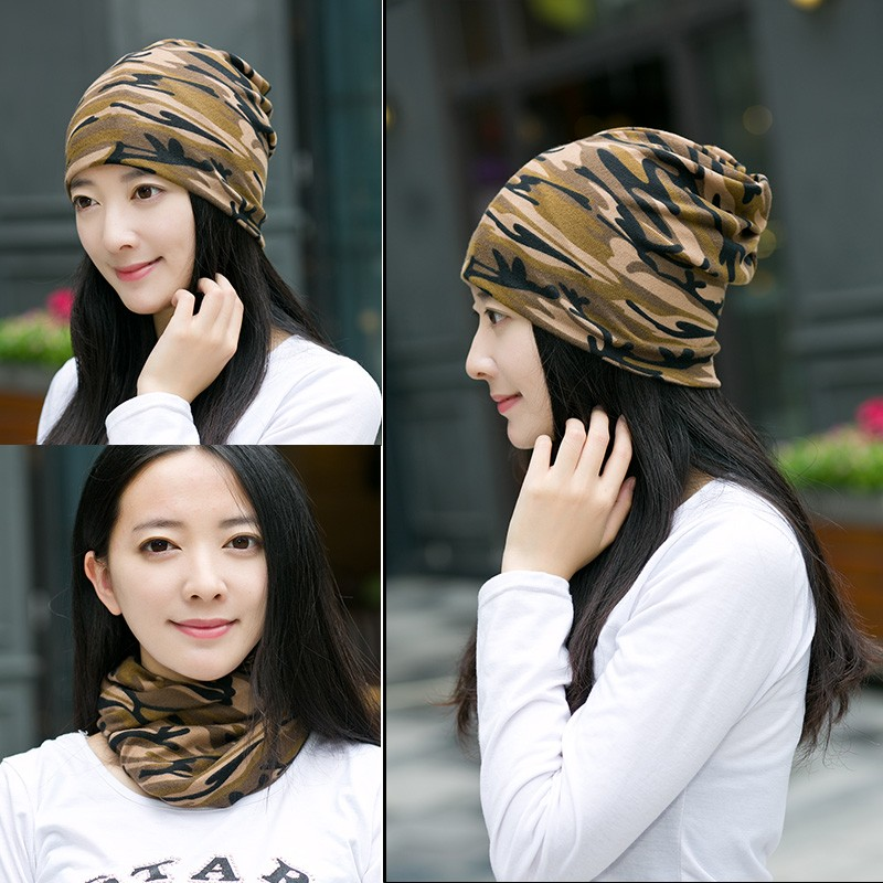 2017 New 3 Use Cap Knitted Scarf Winter Hats For Women Camouflage Beanies Lady Hip-Hop Skullies Girls Gorros Female Beanies 2016 limited gorro gorros brand new women s cotton hip hop ring warm beanie cap winter autumn knitted hats beanies free shipping