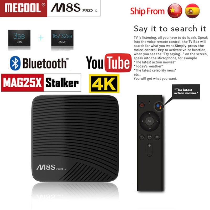 MECOOL M8S PRO L Android 7.1 Amlogic S912 3 GB DDR3 16/32 GB 2.4G/5.8G WiFi Bluetooth H.265 4 K Smart IPTV TV Box Android Tv Box