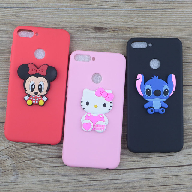 online store 936ca 81ec5 Cute Cartoon Silicone Case for Huawei Honor 7A Pro Cases Stitch Hello Kitty  Minnie Cat Soft TPU Phone Cover for Huawei Honor 7A