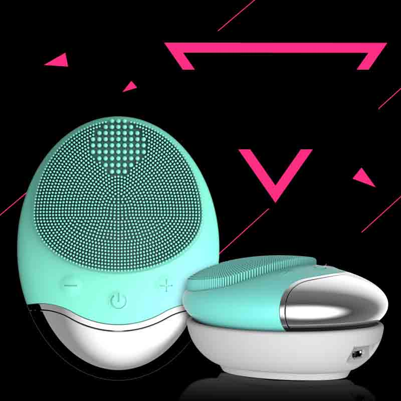 Silicone ultrasonic face cleaning Brush Wireless Charging Cleansing Instrument Electric Beauty Instrument face cleansing brush brush electric meter washs a face cleansing artifact wash ultrasonic absorption black face home beauty import equipment clean
