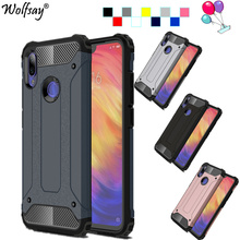 Xiaomi Redmi Note 7 Case Hybrid Armor Robot Dual Layer Protector For Cover Funda On Shells
