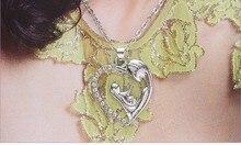 Новый heart-shaped ожерелье, мода МАМА ожерелье короткий параграф