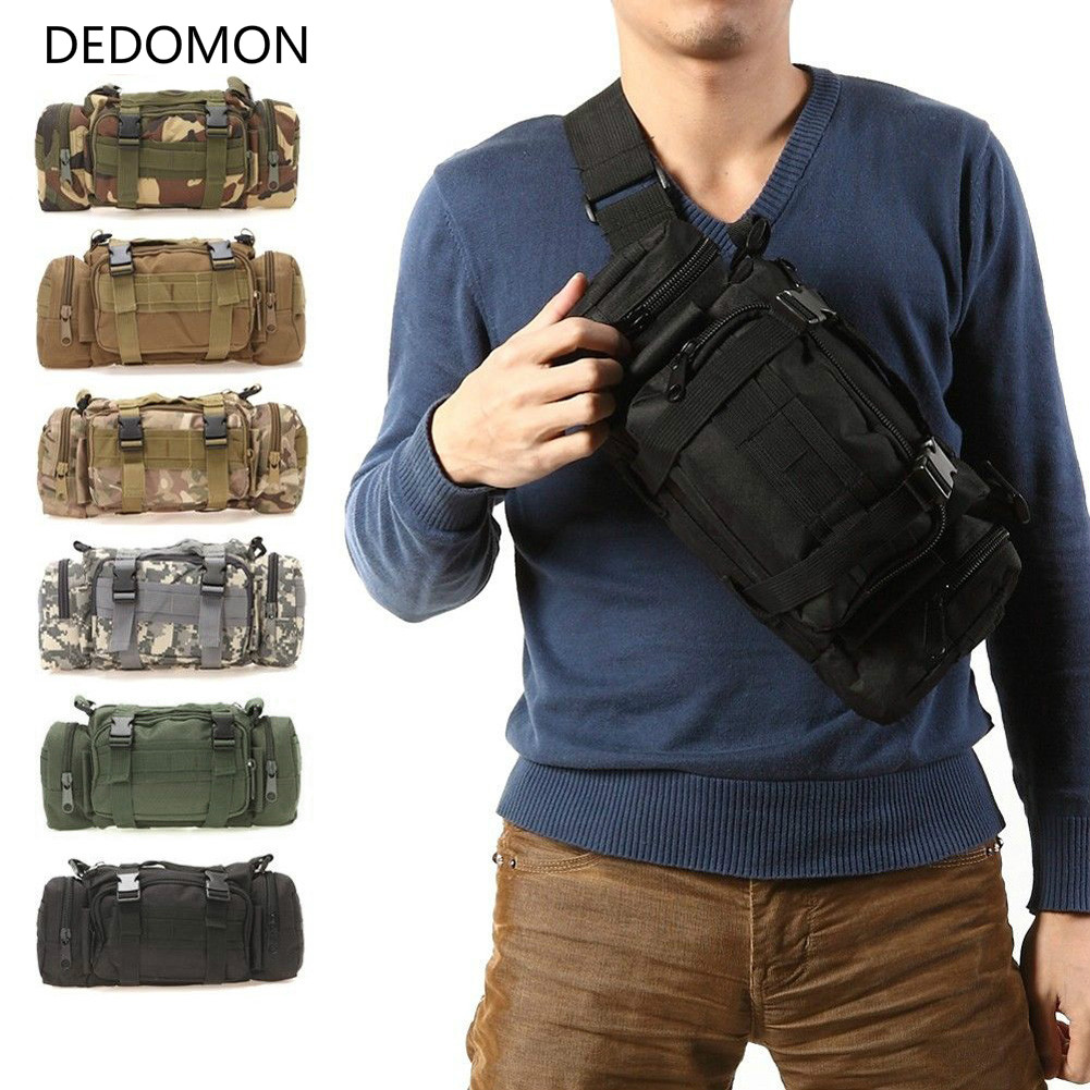 Bolsas de escalada al aire libre 3L/6L, mochilas tácticas militares, paquete de Camping Oxford a prueba de agua, bolsas de cintura de senderismo mochila militar