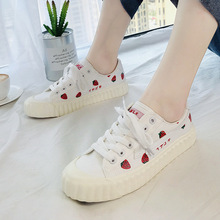 Women Casual Shoes 2019 Spring/Autumn Women Flats Shoes Fashion Breathable Vulcanization Lace-Up Women Sneakers