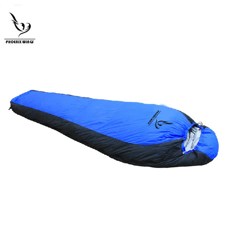 Outdoor adult sleeping bag thick down sleeping bag -20 Degrees Celsius winter duck down warm sleeping bags outdoor envelope type super light duck down sleeping bag adult 25 degrees fall and winter camping sleeping bags at6116