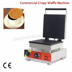 Big Pan 25x25cm Ice-cream Cone Waffle Baker Maker Crispy Egg Roll Machine 1500W 220V 110V for Home Restaurant Cafeteria