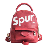 All Match Simple Small Bag Backpack Fashion Letters Shoulder Satchel