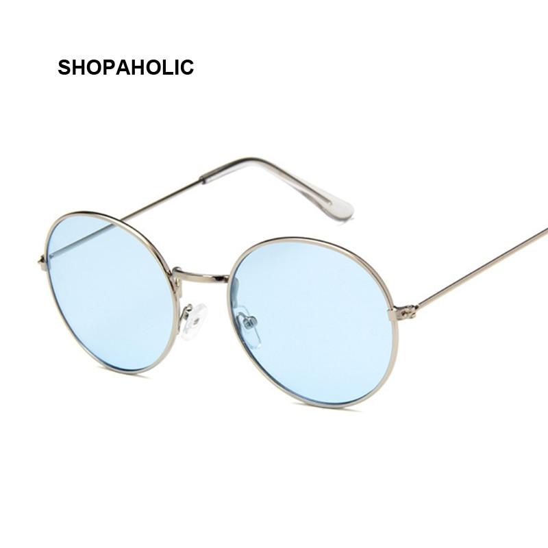 Vintage Round Sunglasses Women Brand Designer Retro Luxury Sun Glasses For Women Small Mirror Ladies Sunglasses Oculos