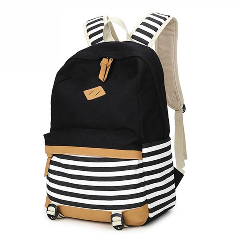 New Girl Bags Canvas Nautical Striped Student Backpacks Rucksack Marine Sailor Navy Stripy School Bags College Wind Shoulder Bag promotion women s panelled canvas backpacks student school bags for boy girl teenagers casual rucksack daybags