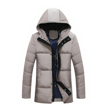 plus dimension 8XL Winter Jacket Men Hat Warm Coat Cotton-Padded Outwear Mens Coats Jackets Hooded Collar Slim Clothes Thick Parkas