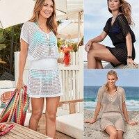 Large Size Dresses For Women Beach Dress Tunic Summer Ladies Beachwear Long Sundress Women's Boho Chic Frocks Bohemian Casual