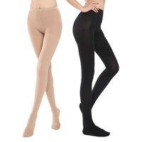 Women's Compression Pantyhose Medical Graduated Support Varicose Veins Long Stocking Pressure Class 2 Black Skin Shape Leg Socks