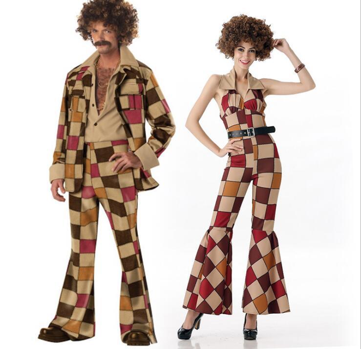 Free Shipping New Arrival Ladies men 60s 70s Retro Hippie Go Go Girl Disco Costume Hens Party Fancy Dress short dresses office wear