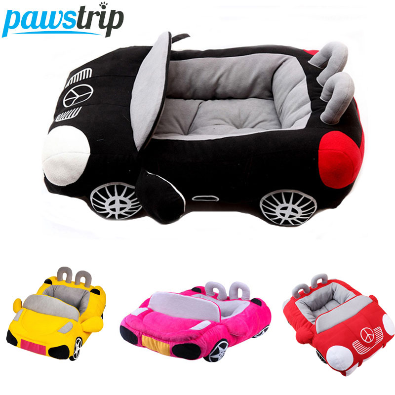Cool Unique Dog Car Beds Avtagbar PP Cotton Padded Small Dog House Vattentät Botten Chihuahua Puppy Soffa Bed