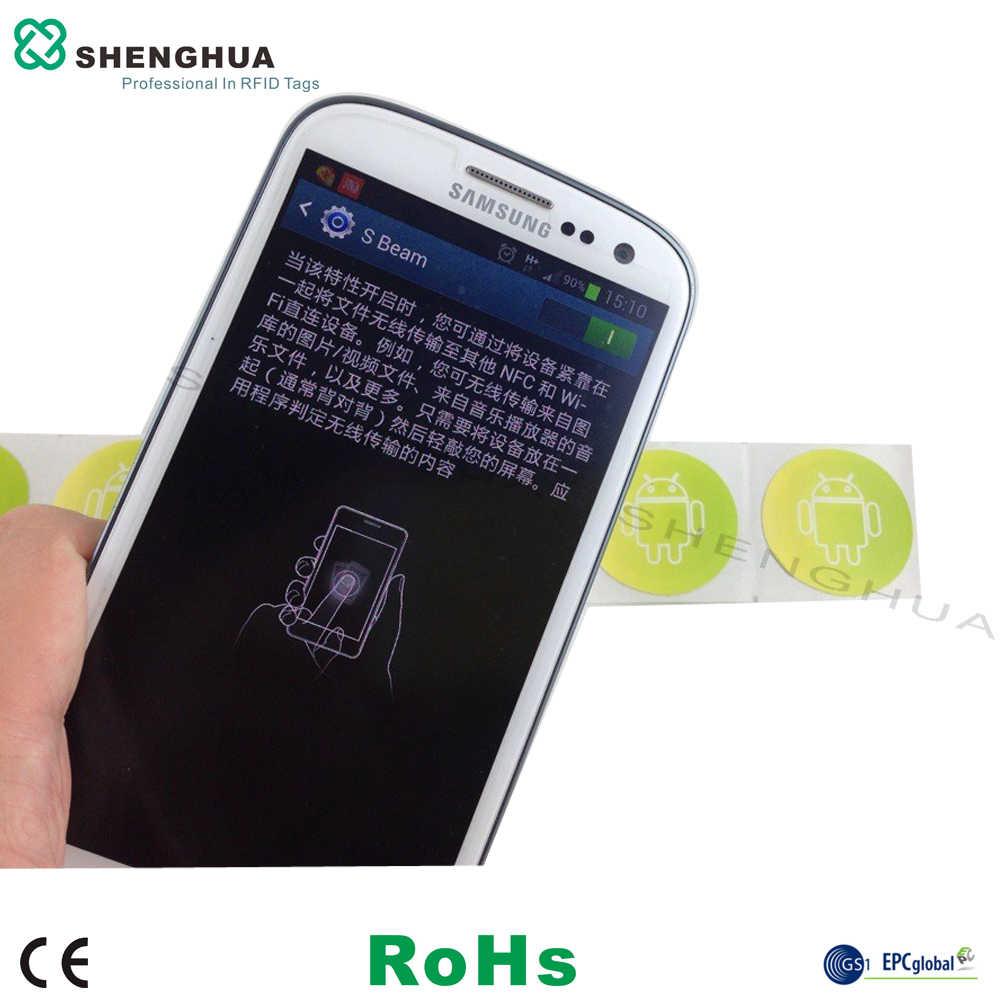 1 pièces Pas Cher 13.56 MHz Étiquettes NFC FM08 Auto-adhésif Imprimable RFID Étiquettes MF 1 K 14443A