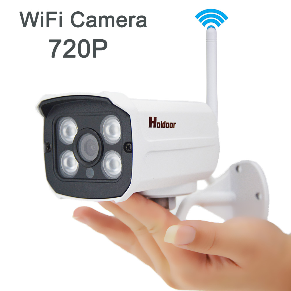 1280*720P WIFI IP Camera HD 1.0MP wifi camera waterproof IP66 IR Night Vision Outdoor TF Card Slot CCTV Camera Motion Detection seven promise 720p bullet ip camera wifi 1 0mp motion detection outdoor waterproof mini white cctv surveillance security cctv