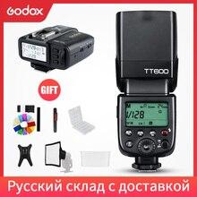 Godox TT600 2,4G cámara inalámbrica Flash Speedlite + X1T C/N/F transmisor inalámbrico disparador de Flash