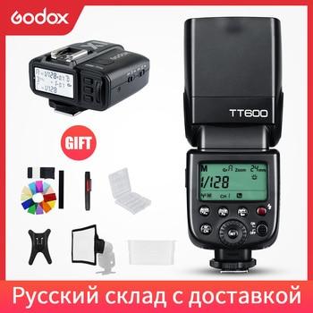 Godox TT600 2,4G cámara inalámbrica Flash Speedlite + X1T-C/N/F transmisor inalámbrico disparador de Flash