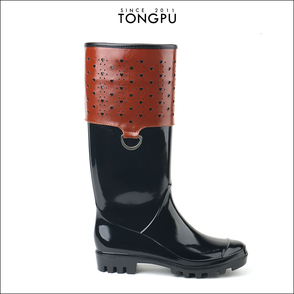 TONGPU PRESALE FAMOUS BRAND WOMEN RAIN BOOT LADY FASHION RAIN BOOT ECO-FRIENDLLY PVC ANTISKID RAIN BOOT 2017 NEWEST NO 08-469