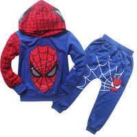 2018 nouveau automne superman survêtement enfants vêtements ensemble Spiderman Costume enfants vêtements coton Sport Costume pour bébé garçons