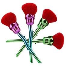 1 Pcs Rosa Pincéis de Maquiagem Pincel de Blush Fundação Contorno Em Forma de Pó Compo Escovas Conjunto de Pincel de Maquiagem