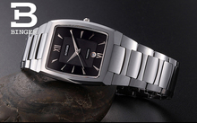 Luxury Brand Switzerland Binger tungsten steel men's watch quartz watch beer barrel full steel wristwatches BG-0394-4
