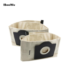 IBooWu 2Pcs Washable Cloth Dust Bags for Karcher MV3 SE4001 and Rowenta Vacuum RU100 Cleaner Spare Parts Replacement Bag