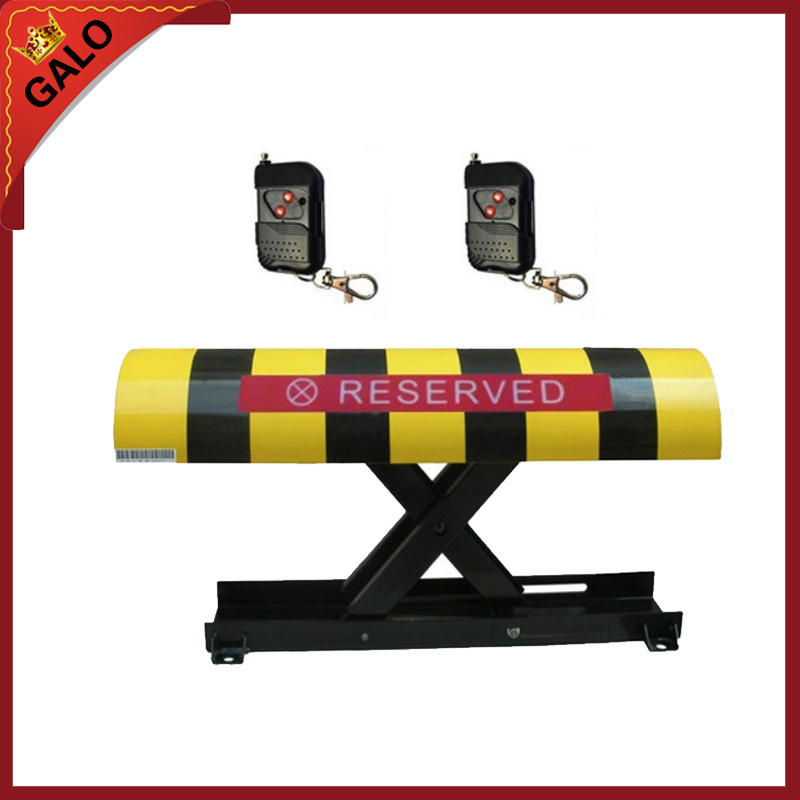 2 remote control Folding Fold Down Security Parking lock barrier bollard Post With Lock & Bolts(NO BATTERY INCLUDED)