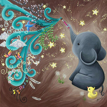 Cute little elephant diamond Embroidery diy painting mosaic diamant 3d cross stitch pictures H644