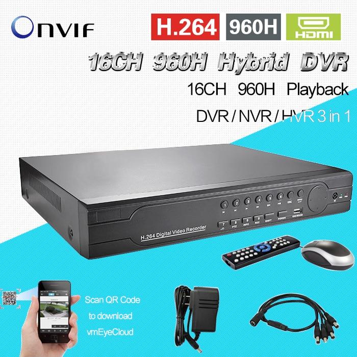 TEATE surveillance 16ch full 960H D1 realtime recording HI3531 DVR HDMI 1080P CCTV DVR NVR HVR