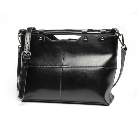 2017 Genuine Leather Bags Hot Shoulder Bag Fashion Vintage Crossbody Bag Concave Bolsas Women Messenger Bag Top Quality Handbags