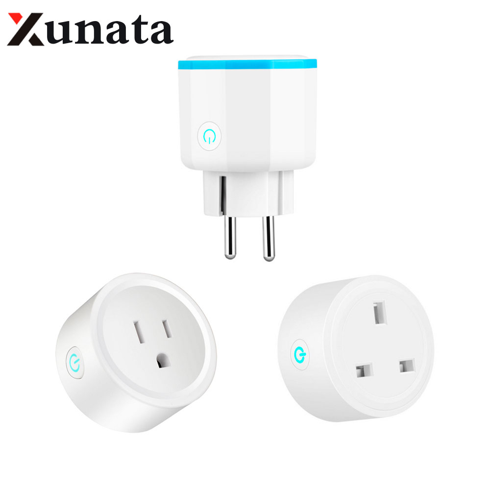 AC110V-240V Smart Plug Wifi Smart Socket Power Monitor EU US UK Plug Outlet Works with Alexa Mobile Phone dropshopping