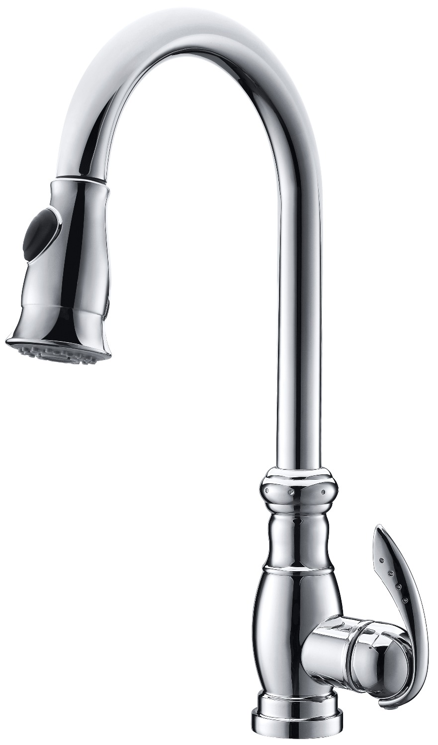 Free ship 2016 NEW DESIGN Chrome clour pull out kitchen spray faucet mixer tap Single hole
