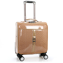 Traveling Bags High Quality 18 inch computer Trolley Luggage Box Pink Suitcase Travel Bag For Men and Women Specials 4 color