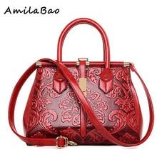 Neue lackleder blumen muster luxus Handtaschen Women Casual tragetasche Damen Druck Schulter Messenger Vintage Taschen ME587