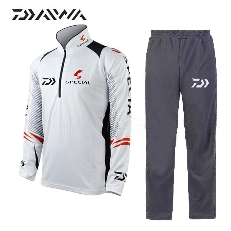 Date Dawa Daiwa de Pêche De marque vêtements pour hommes D'été style respirant Soleil UV protection de sport en plein air De Pêche ensemble