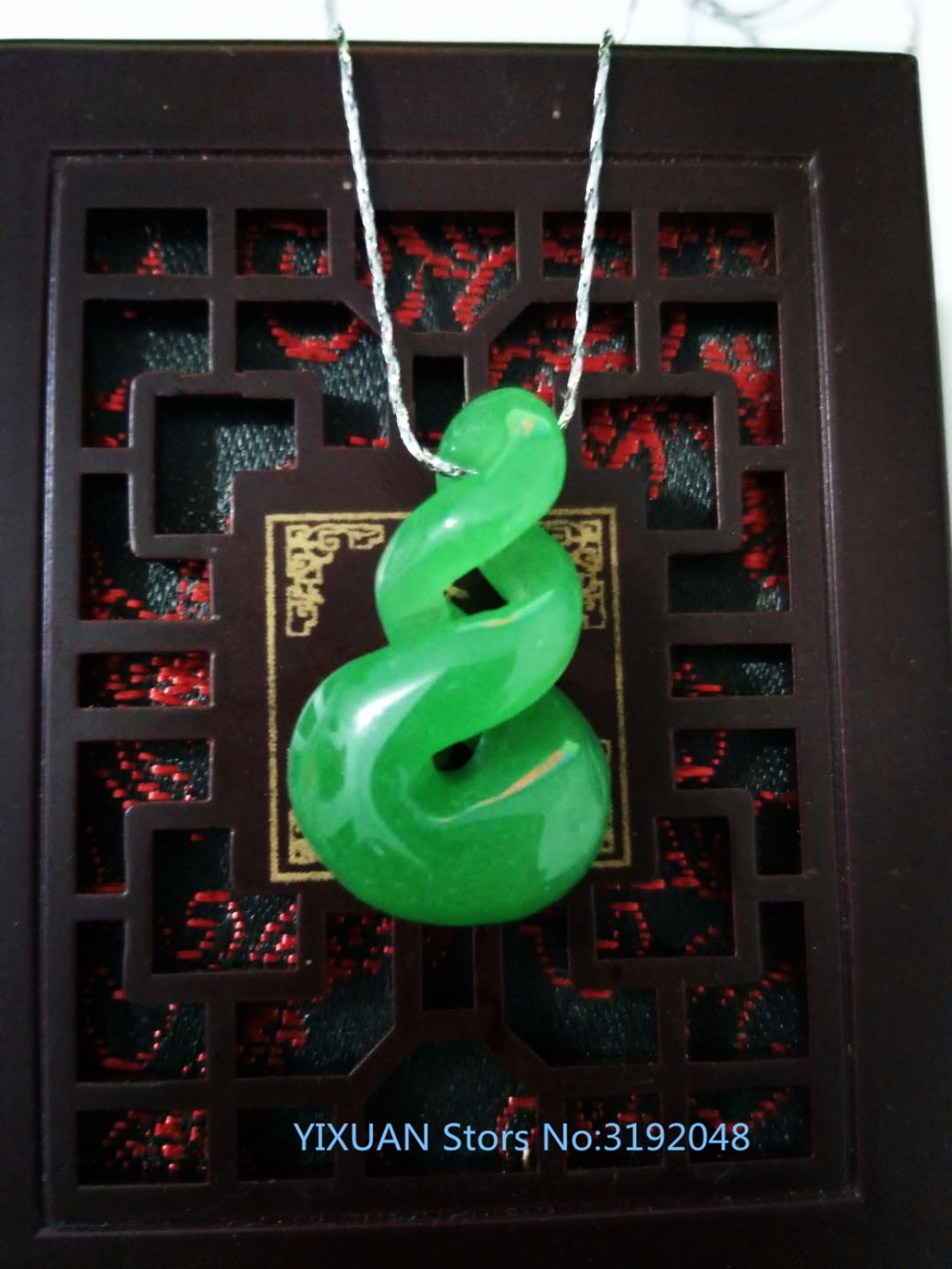TNUKK  The new green jade pendant or free shipping.