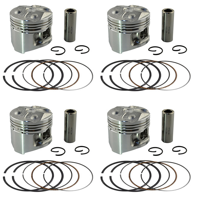 4 Sets +50 Bore 48.5 mm Piston & Piston Ring Kit for YAMAHA FZ250 FZR250 1HX Piston and Rings and Clips