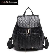 Kashidinuo бренд моды женщин рюкзаки случайные леди кожаный рюкзак женщины школьные рюкзаки для девочек-подростков путешествия back pack