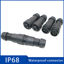 1Pc M19 IP68 Assembled Waterproof Electrical Cable Connector Male Female Plug Socket Connectors 2 3 4 5 6 7 8 9 10 11 12 Pins стоимость