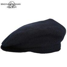 BINGYUANHAOXUAN Herringbone Models Men Beret Gentlemen Retro Newsboy Cap Casual Flat Hats For Women Octagonal Cap Boinas Hombres