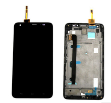 For Huawei Honor 3X G750 LCD Display Touch Screen Digitizer Assembly Frame Black